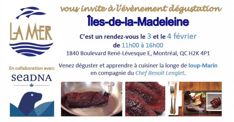 Événement dégustation loup-marin Îles-de-la-Madeleine